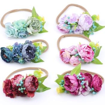 Headband Newborn Easter Flower Crown on Nylon Hair Accessory Kids  photo Prop girls flower headpiece