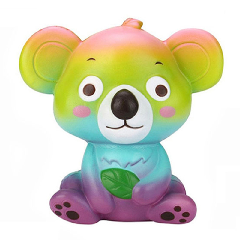 Jumbo Colorful Koala Squishy Simulation Soft Slow Rising Creative Cream Scented Squeeze Toy Stress Relief Kid Baby Birthday Gift