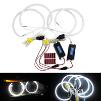 ANGRONG CCFLl Angel Eyes For BMW E36 E38 E39 E46 Projector CCFLl Angel Eyes Halo Ring Light 7000k White 4pcs 131mm
