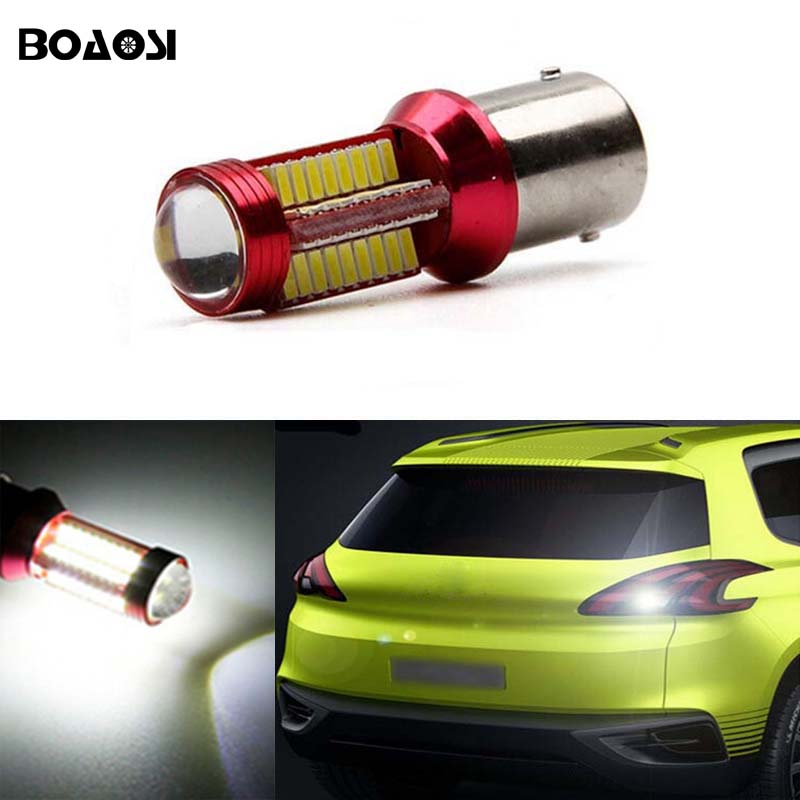 BOAOSI 1x Error Free Backup Reverse Light 1156 p21w CREE Chip For peugeot 307 206 2008 207 308 4008 508 5008 for 301 2014 2 x error free super bright white led bulbs for backup reverse light 921 912 t15 w16w for peugeot 408