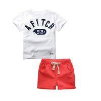 2016 Newest Cotton Baby Boy Clothes Set Short Sleeve Tees Shorts Kid Toddler Boys Summer Set