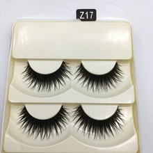 5 Pieces/1 Set False Eyelashes Thick Human Hair Natural Long Delicate Crisscross Professional Beauty Make-up Extension Tools
