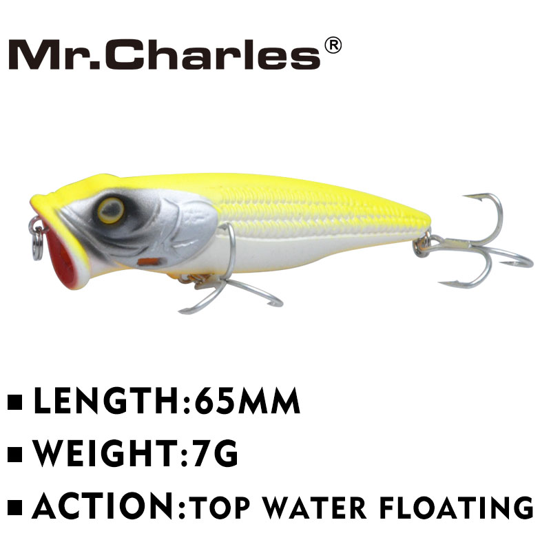 Mr.Charles  MR130 1 Pcs Good Fishing Lures ,65mm/7g Quality Professional Minnow Hard Baits Floating Lure 3D Eyes рыболовный поплавок night fishing king 1012100014 mr 002