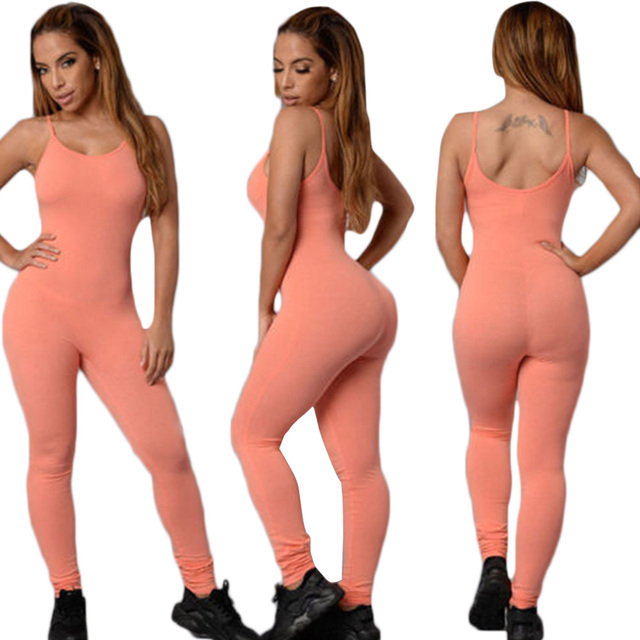 Tight Jumpsuit Women 2017 Summer Fashion Sexy Halter Long Section