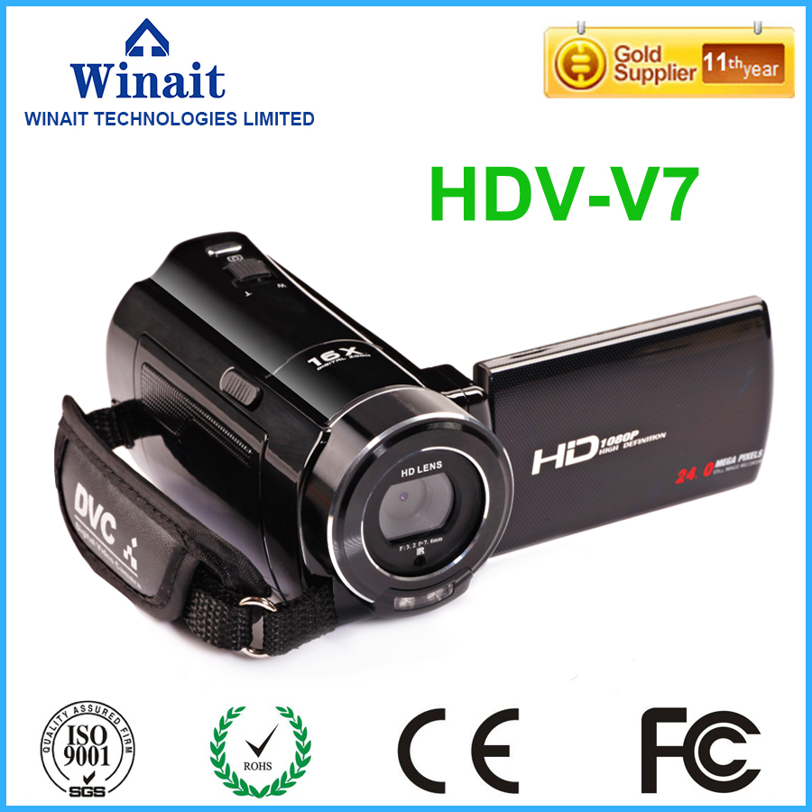 New Style 24MP Video Camera HDV V7 3 0 1080P HD Face Smile Detection Wireless Digital