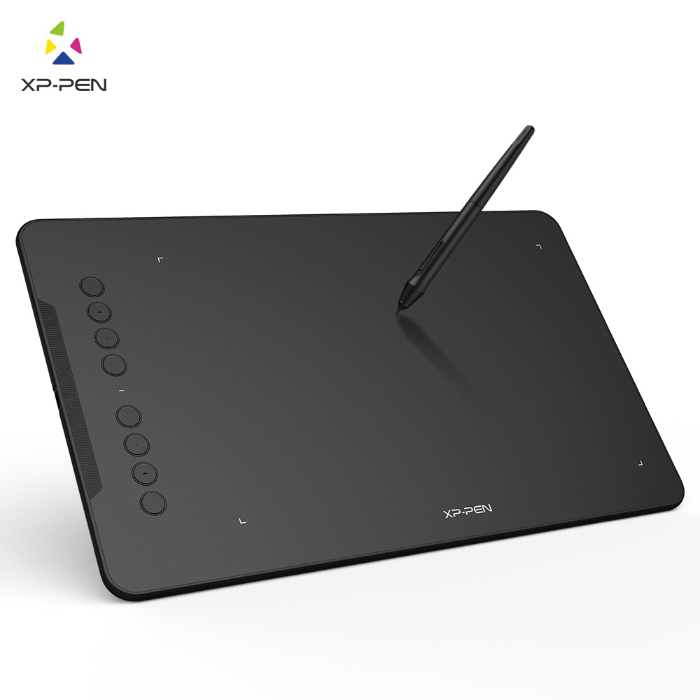 XP-Pen Deco01 Graphics Drawing Tablet Digital Paint Tablet with 8192 levels Pressure Passive Pen Stylus ugee m708 digital tablet 10x6 inch drawing area graphics drawing tablet with rechargeable pen anti fouling glove