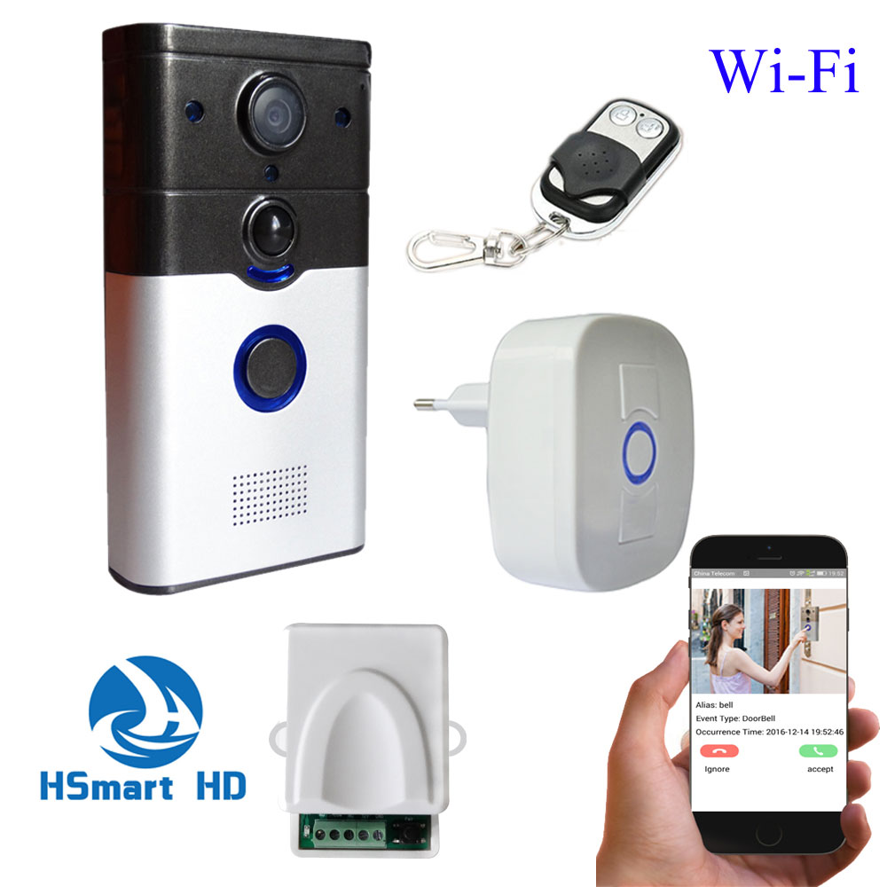WiFi Wireless 3G/4G HD Video Door Phone intercom peephole Camera Remote Unlock IR Night Vision PIR Alarm Android IOS smart home d114b smart home 1v2 wireless intercom one to two video door phone 2 4g digital pir detection video door peephole camera