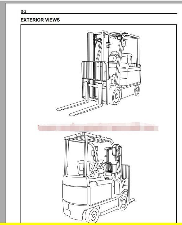 TOYOTA Forklift Truck Full Set Manual DVD+Industrial