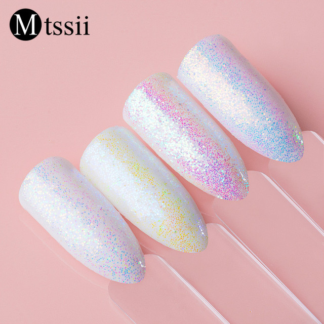 Mtssii Unicorn Mermaid Nail Glitter White Color Sequins Decoration Flakes Art Paillette Powder For Manicure