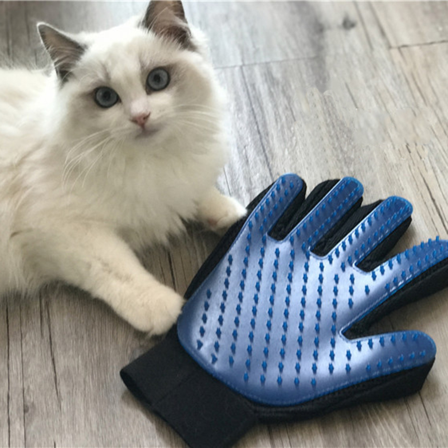 How to remove bathroom silicone - Professional Pet Hair Removal Silicone Brush Cat Bath Grooming Glove Massage Combs Hair Brosse Pet Cleaning