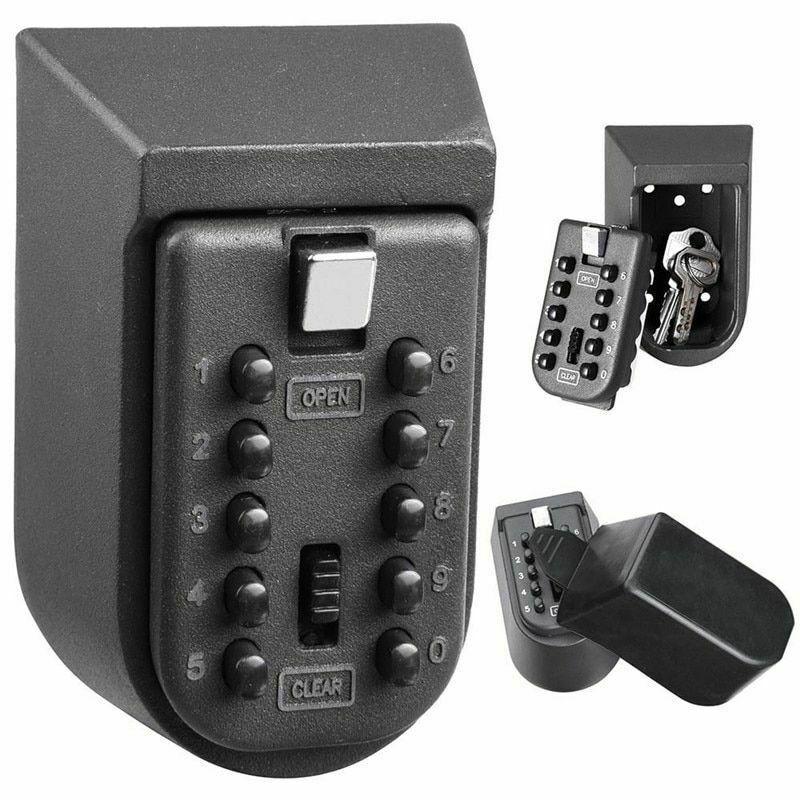 New Black Heavy Duty Key Hidden Storage Safe Box With 4-Digital Password Lock