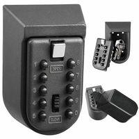 New Black Heavy Duty Key Hidden Storage Safe Box With 4 Digital Password Lock