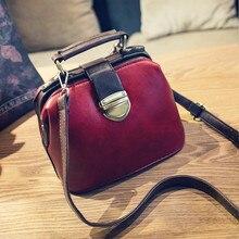 2017 neue Koreanische mode retro farbe arzttasche schloss Handtasche frauen kleine Umhängetasche vintage solide Messenger Taschen flap frauen