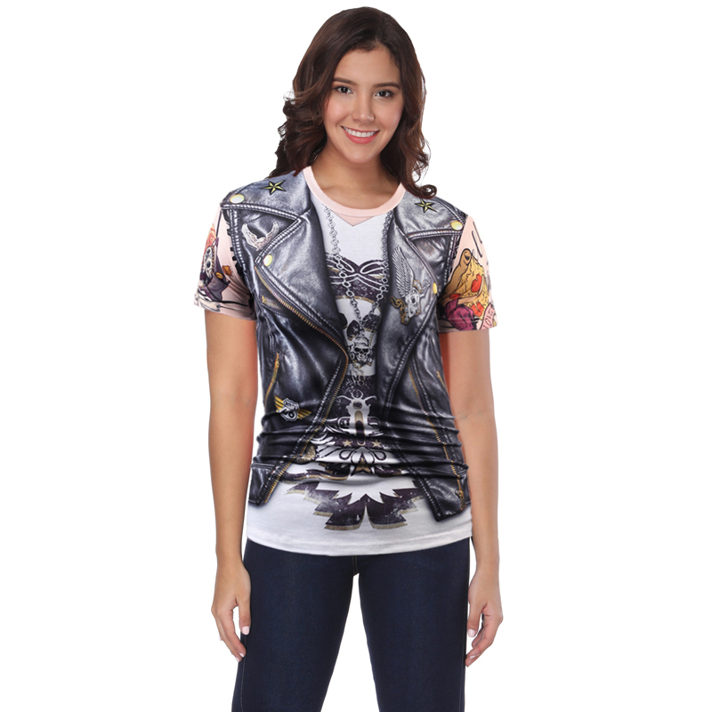 The new short sleeve T-shirt for men and women with creative 3 d digital printing vivid  ...