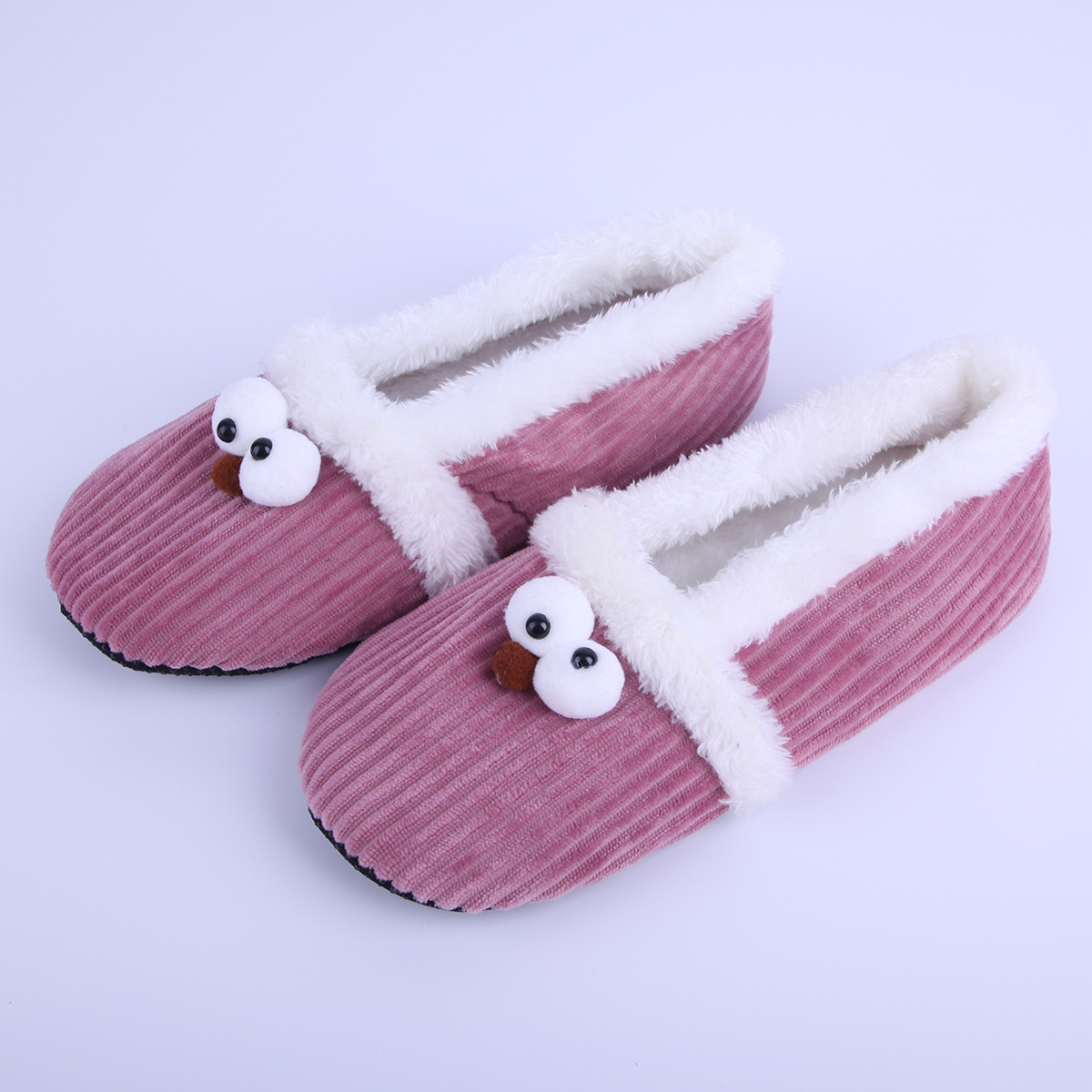 New Warm Soft Sole Women Indoor Floor Slippers/Shoes Wool Slippers Flannel Flat Animal Modelling Home Slippers