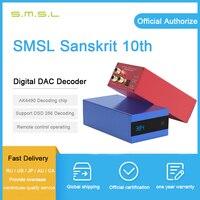 SMSL Sanskrit 10th sk10 digital audio dac usb ak4490 dac optical input XMOS decodificador dac amplifier dsd dac SMSL sk6