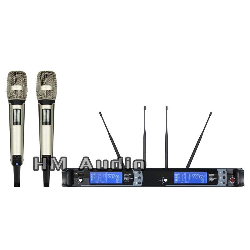 Nova Alta Qualidade Profissional SKM9000 Verdadeira Diversidade de Microfone Sem Fio Portátil profissional clipe de lapela microfone headset