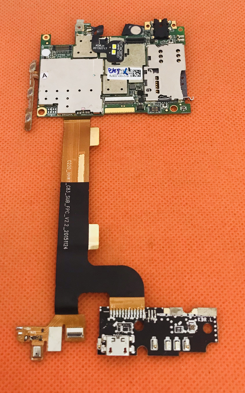 Used Original mainboard 3G RAM+32G ROM Motherboard for BLUBOO Xtouch X500 5.0inch FHD 4G LTE MTK6753 Octa Core Free shiping