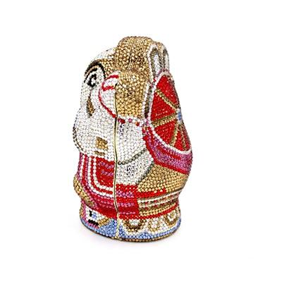 Soirée Mode 2017 Sac Noël Pur Embrayages Claus En Cadeau Cristal Or Boîte Santa Dames 100 La Pour De Strass Main Nouvelle À wnXxCRqY1