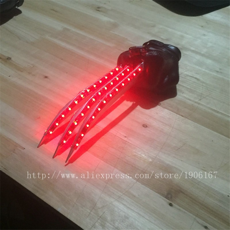 Red led luminous Wolverine claws4