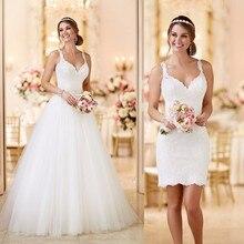 Wedding Dress Vestido De Noiva 2 Pieces Lace Appliques Brida