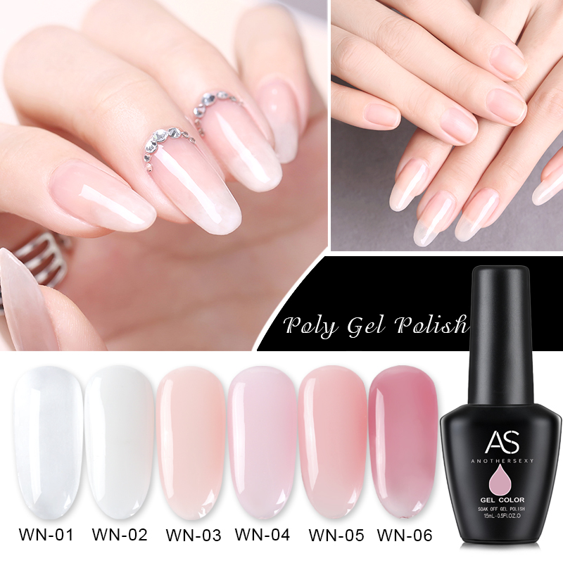 Aliexpress Com Buy 1pc Diy Poly Gel Finger Extension Clear Pink Jelly Polygel Quick Building