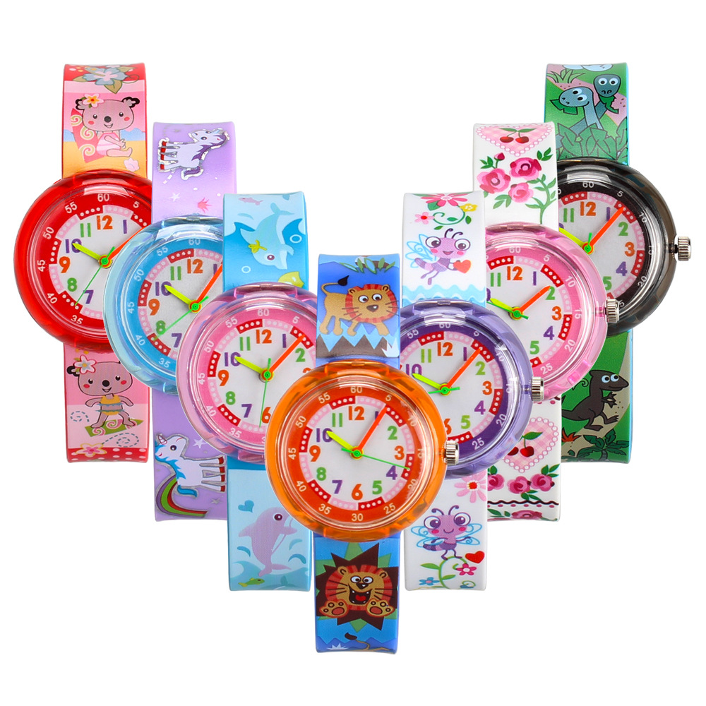 High Quality Cartoon Bee Flower Watch Children Fashion Casual Unicorn Pony Kids Quartz Watches For Student Boys Girls Clock @#12