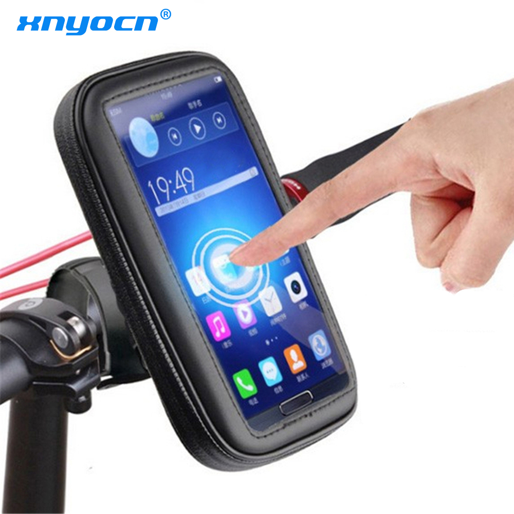 For Lg G5 G4 Samsung Galaxy J5 A3 Huawei P9 P8 Lite Mobile Phone Holder Case Motorcycle Waterproof Pouch Bag Bike Bicycle Stands