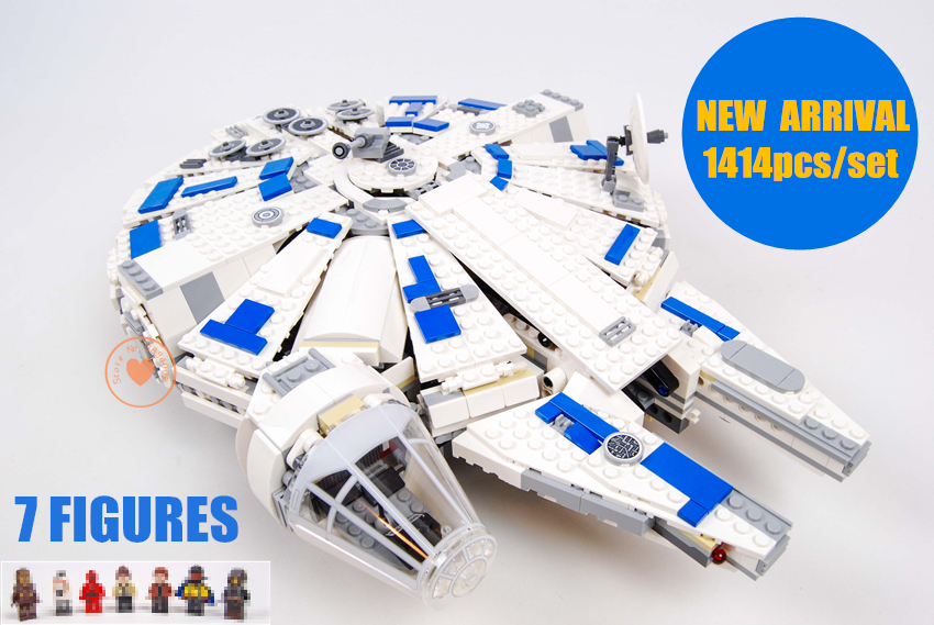 цена на New Star wars set Force Awakens fit legoings Star Wars Millennium Falcon figures 75212 Building Blocks bricks Kids toys boy Gift