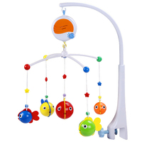 Baby Rattles Mobiles Music Bed Bell Toddler Crib Toys Cartoon Cute Baby's Soothing Toy Bed Hanging Musical Baby Toy 0 12 Month
