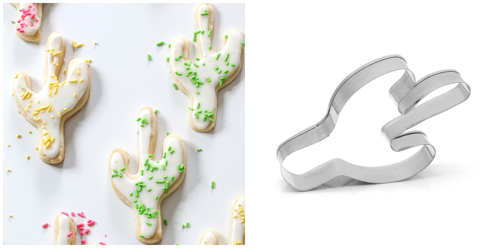Cookie Cutter Stainless Steel Cactus Shape Cookie Cutters Biscuit Candy Chocolate Mold Fondant Cutter Kitchen Baking Tools