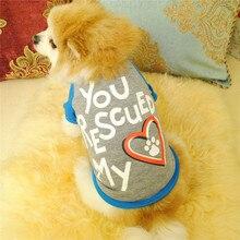 Летняя одежда для собак с буквенным следом многоцветная дизайнерская футболка для собак уличная модная одежда для собак Roupa водонепроницаемый жилет для собаки