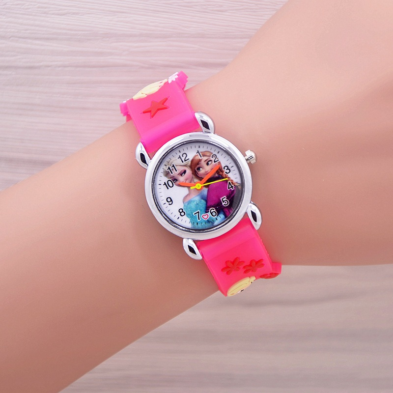 Relojes Mujer 2016 Infantil Reloj Snow Queen Princess elsa anna Cartoon Watch 3D Children Kids Quartz Wristwatches Clock