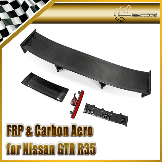 Car-styling Nismo Style Carbon Fiber Rear Spoiler (Included Lights) Fit For Nissan GTR R35