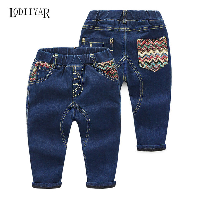 Child Handsome Baby Boys Clothes, Korean Casual Kids Boys Jeans, Fashion Solid Pants For Children, Winter Spring Autumn Trousers