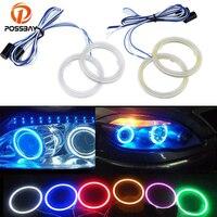 80mm 7 Colors Car Auto Angel Eyes Headlight COB Halo Ring LED Lights