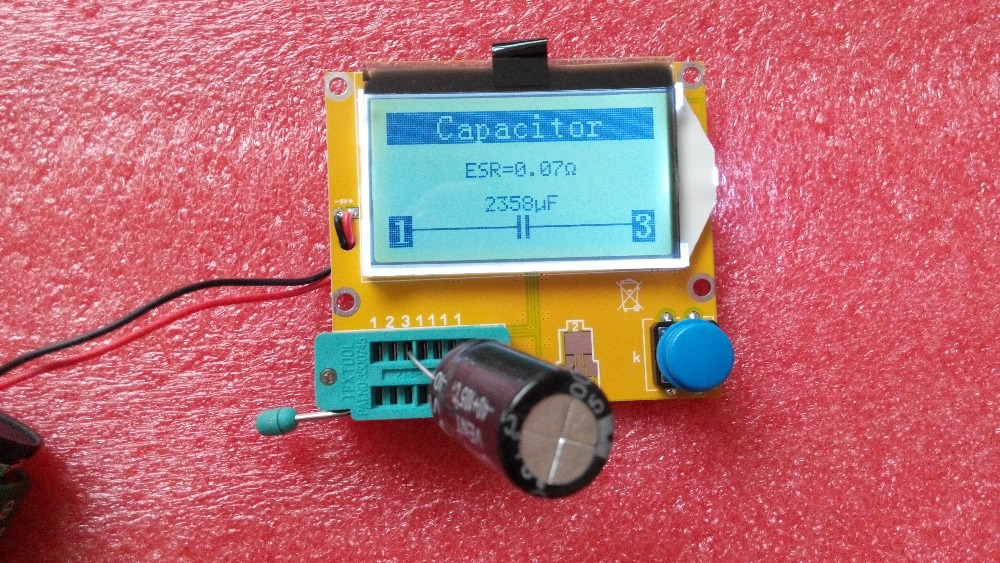 Freies verschiffen, MG328 Transistor Tester Kondensator ESR Induktivität Widerstand Meter NPN PNP Mosfet