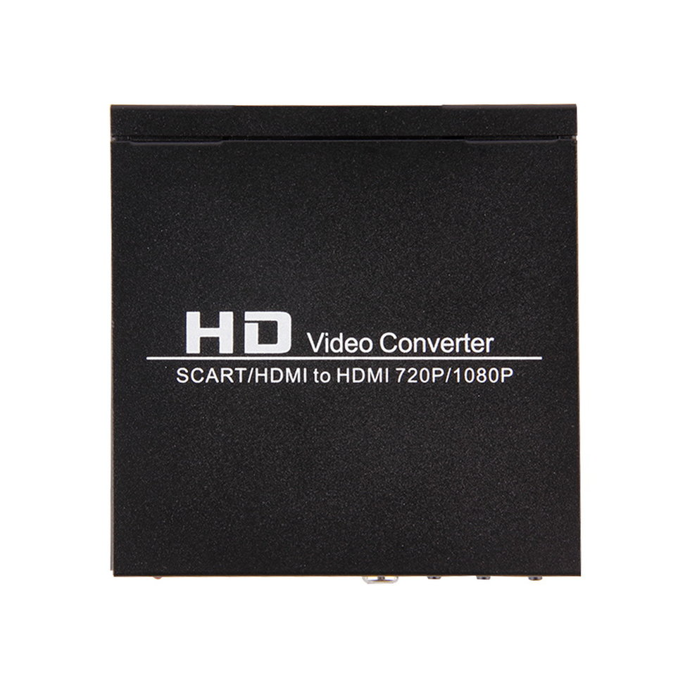 2PCS Scart/HDMI to HDMI 720P 1080P HD Video Converter Monitor Box For HDTV DVD STB