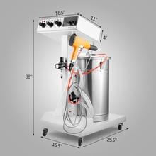 450g/min WX 101 Powder Coating Machine 45L Capacity Electrostatic Powder Coating Machine Spraying Gun Paint