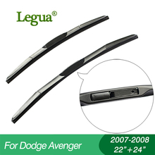 1 set Wiper blades for Dodge Avenger(2007-2008),22+24,car wiper,3 Section Rubber, windscreen, Car accessory