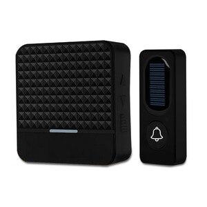 Image 2 - FORECUM Solar Powered Waterproof Wireless DoorBell No Battery EU US UK Plug Smart Door Bell Chime 1 Button 1 Receiver LED Light