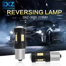 цена на DXZ 2pcs P21W LED 1156 BA15S LED Bulbs Canbus 1200Lm Car Turn Signal Reverse Brake Light R5W 3030 LEDs 12V 24V Automobiles Lamp