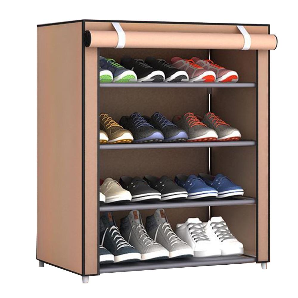 Многослойная стойка для хранения обуви бытовые принадлежности для экономии пространства практичные домашние мешки для хранения обуви вешалка для хранения шкафа - Цвет: five layers coffee
