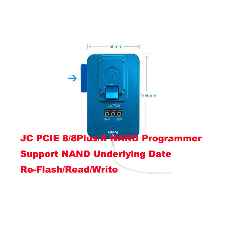 JC Pro1000S PCIE NAND Programmer Test Fixture for iPhone 8 8P 8 plus  X Error Repair Tool Memory Upgrade Serial SN Read Write-in Integrated Circuits from Electronic Components & Supplies