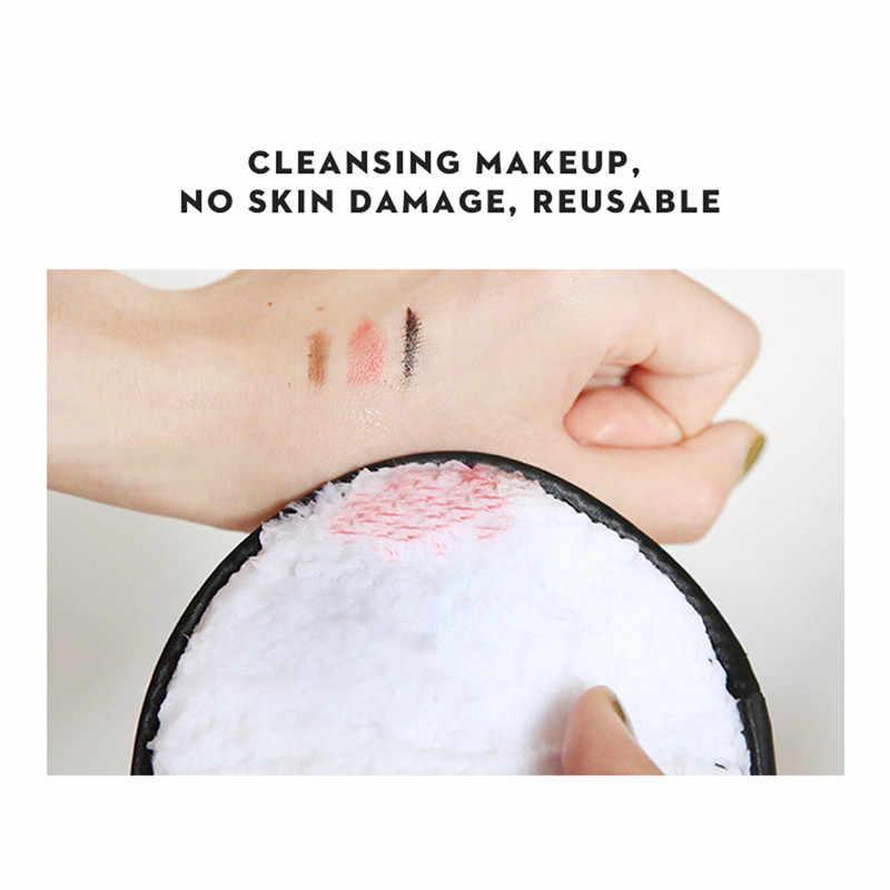 MAANGE 1pc 3 צבעים איפור מסירי איפור מסיר מגבת פנים ניקוי בד רפידות קטיפה אופנה חדש ניקוי פאף