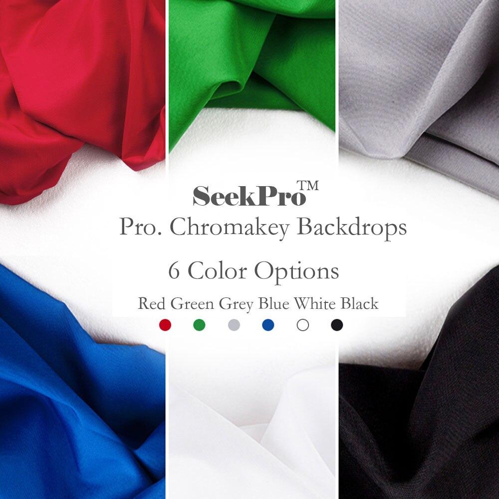 SeekPro 10x10ft Fond Photographique Vert Couleur Coton Photo Milieux Studio Photographie Écran Chromakey Toile de Fond Tissu