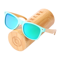 BARCUR 2018 Latest Sunglasses Wood Decoration Young Style Square Green Frame UV400 Protection Glasses HD Polarized