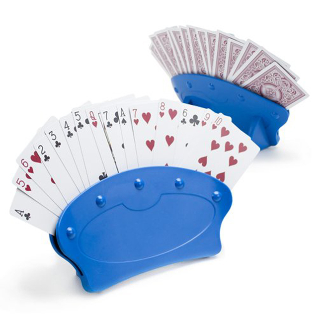 Two Pieces Set Playing Card Holders Party Poker Game Hands Free