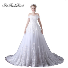 SXFASHBRD Robe De Mariage Short Sleeves Wedding Dresses For