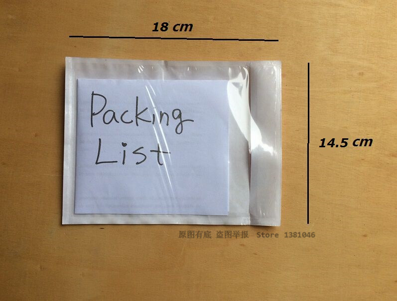 50/100 Transparent Clear Self Adhesive Packing List Envelope Waterproof Sticky Shipping Envelopes 145 x 180mm50/100 Transparent Clear Self Adhesive Packing List Envelope Waterproof Sticky Shipping Envelopes 145 x 180mm